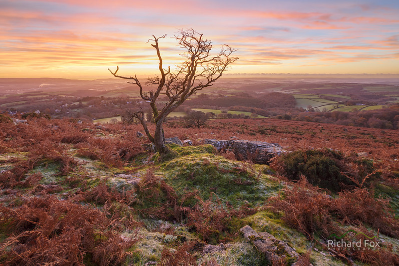 Fire Cracker, Dartmoor - Blend of 2 Exposures