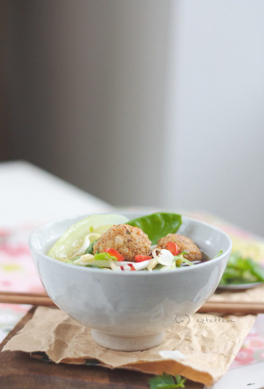 asian style meatball soup