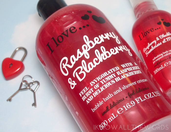 i love... raspberry & blackberry shower creme