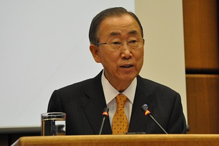 UN Secretary-General Ban Ki-moon's visit to Austria, in November 2014