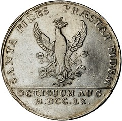 Lot 1044. COLOMBIA. Santa Fe de Bogota. Silver Proclamation Medal, 1760 reverse