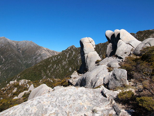Rock formations on Mount Olympus