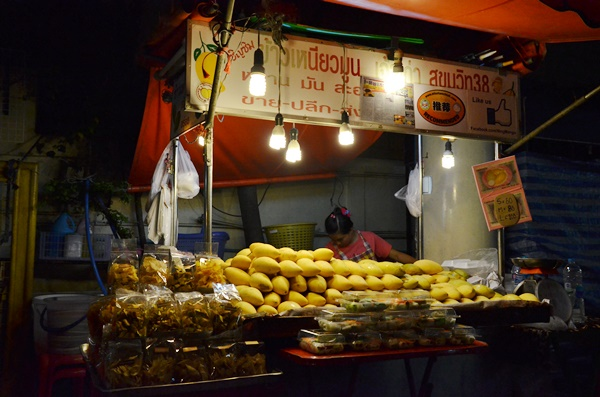 Thai Mango Sticky Rice Stall Sukhumvit Soi 38