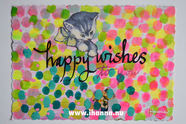 DIY Postcard: Happy Wishes to you