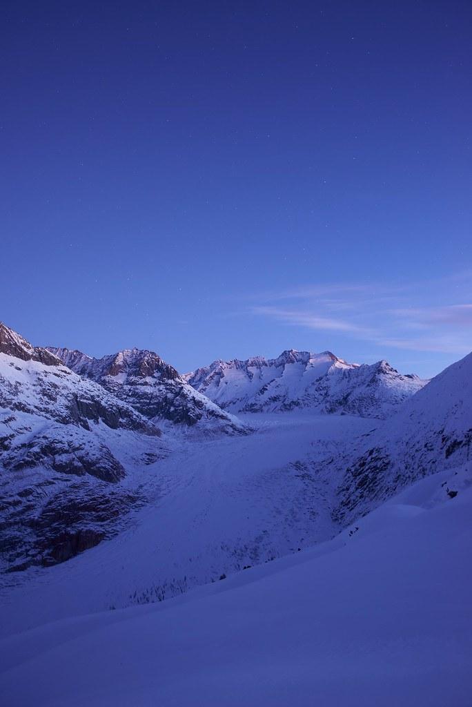 Morning at Aletsch Glacier - Riederalp