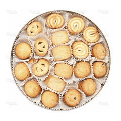 Cookies (Clipping path!)isolated on white backgrou…