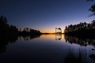 Duke Progress Energy Power Plant at Night No. 6