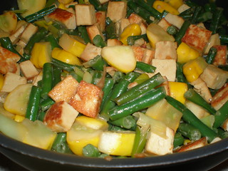 Tofu and Vegetables with Ginger and Coconut Milk