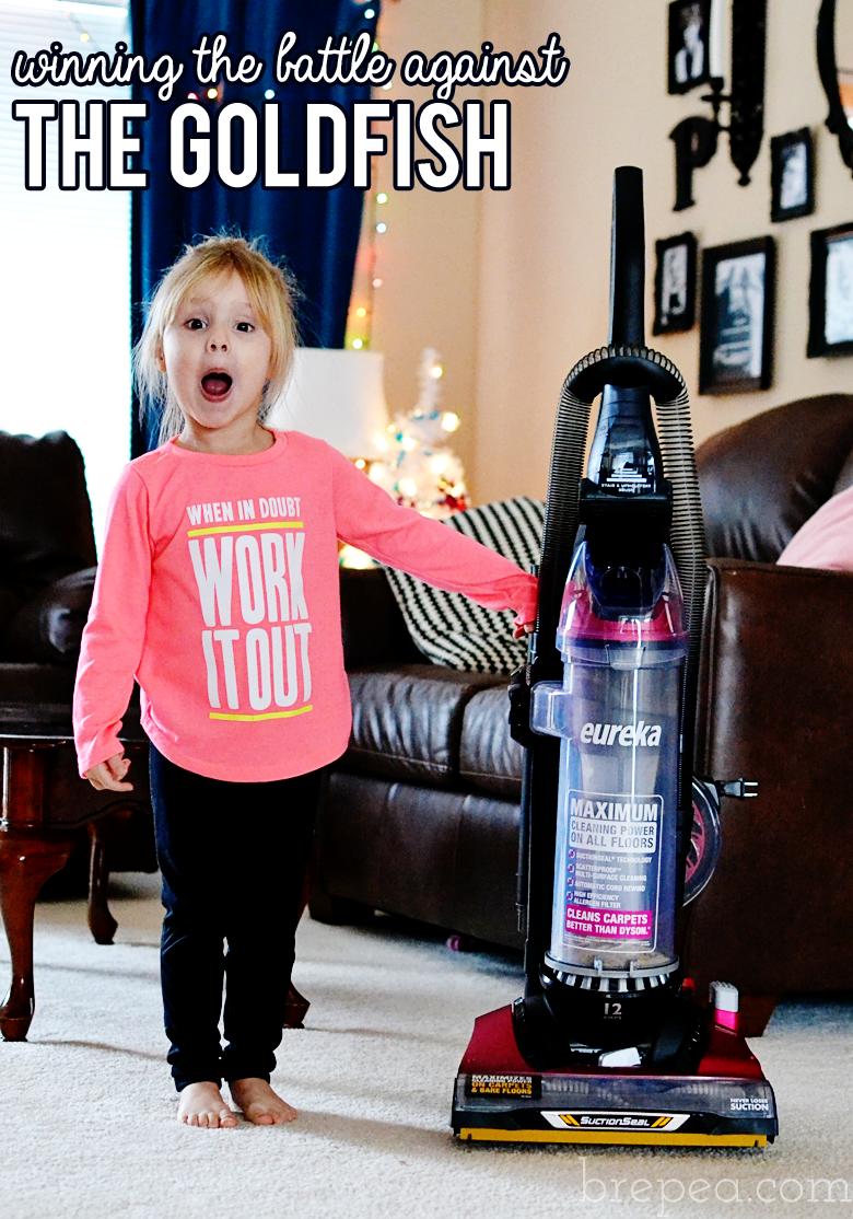 Moms: here's how I am winning the battle against the Goldfish! #EurekaPower #ad