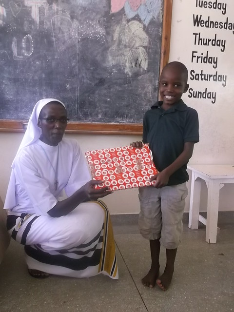 Sister presents Marverlous with his present