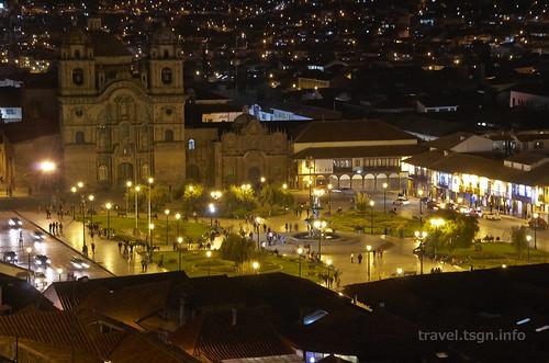 【写真】世界一周 : クスコ・市街地(1日目-夜、全景)