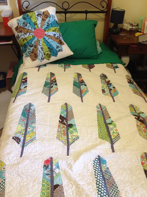 Feathers Quilt Finished