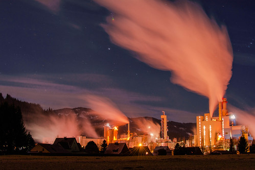 industry II - papermill at night