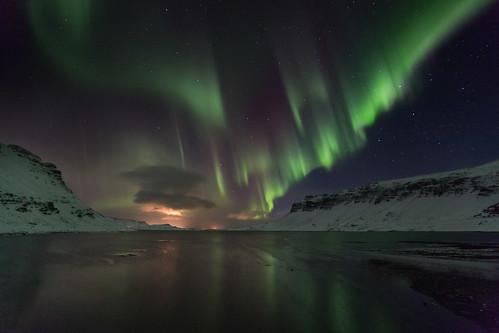 Still night from the bottom of Hvalfjordur