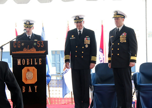 USS Mobile Bay Hosts Change of Command Ceremony at Naval Base San Diego