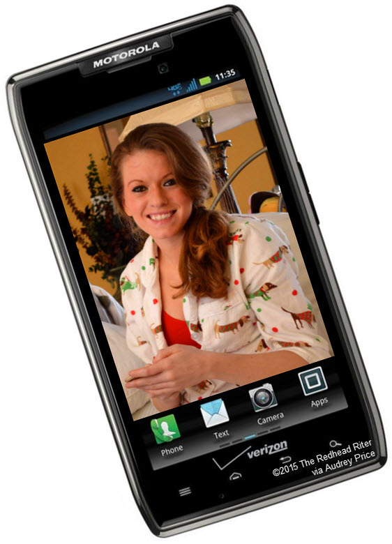 cell phone droid redhead niece brittany