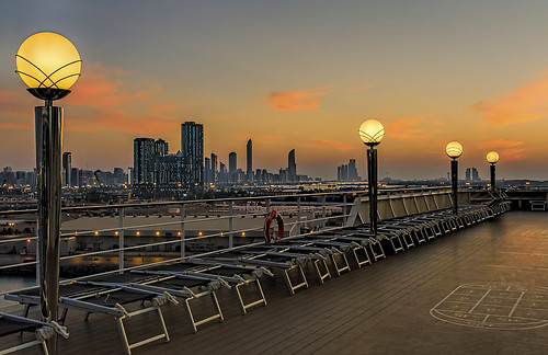 sunset sky skyline clouds buildings tramonto nuvole ship uae deck nave abudhabi lampioni pontile 2470mmf28 emiratiarabi nikond5200