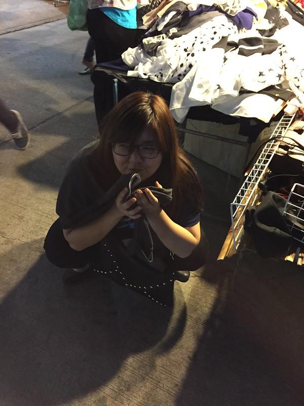 Unglam 1 - Huiying unglam - hoboing at night market - I need to sit I don't care