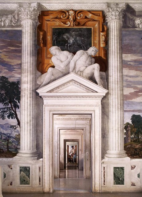 Paolo Veronese, Villa Barbaro, Maser, Blick aus dem Saal des Olymp nach Osten (View from the Sala dell'Olimpo, facing east)
