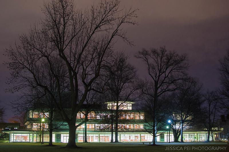 WUSTL Olin Library at Night