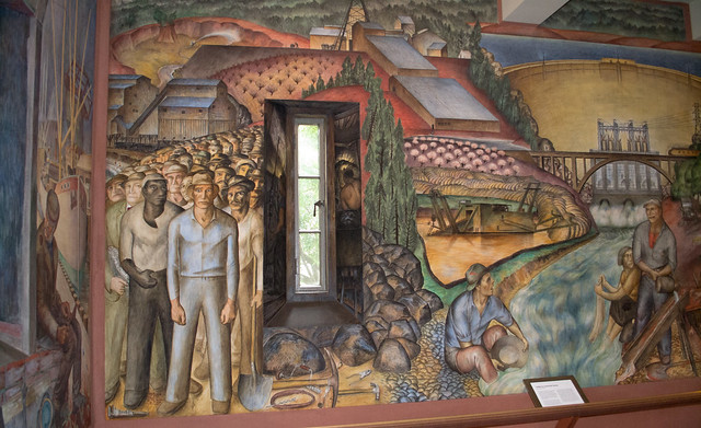 Sf coit tower wpa mural 1275 flickr photo sharing for Coit tower mural artists