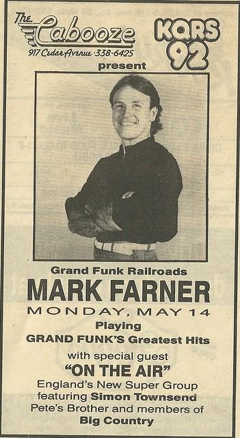 05/14/90 Mark Farner @ The Cabooze, Minneapolis, MN