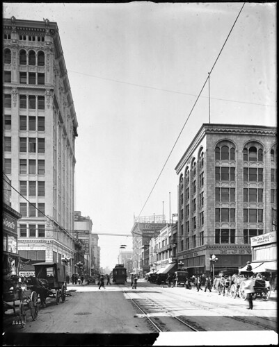 Broadway, looking north from Seventh Street, Los Angeles, ca.1907-1917 (CHS-5624)