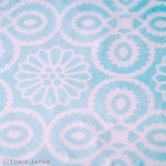 yasmine tile print in duck egg blue