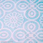 yasmine tile print in duck egg blue