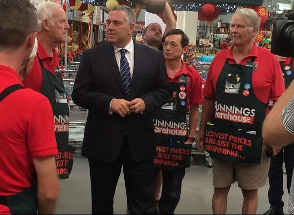 Federal treasurer Joe Hockey helped launch the toolkit at Bunnings Chatswood. Photo credit: National Seniors