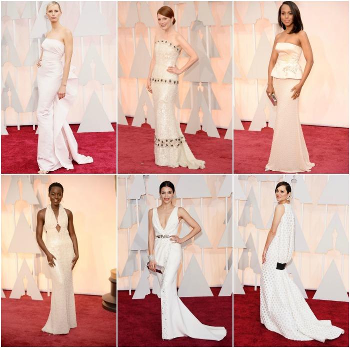 vestidos blancos en la gala de los oscar 2015
