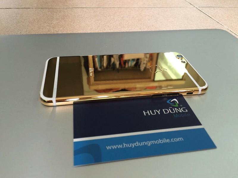 Thay vỏ mạ vàng titan bóng iPhone 6, 6+