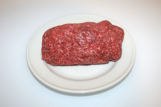 01 - Zutat Rinderhackfleisch / Ingredient beef ground meat