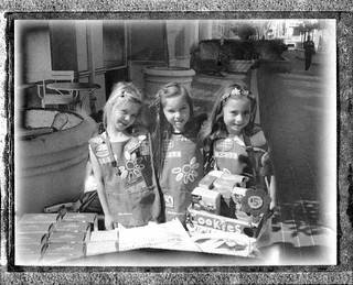 Girl Scouts with Cookies Polaroid