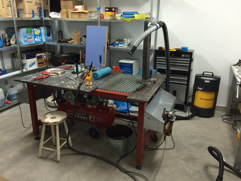 Welding Table Designs large homemade welding table Welding Table By Taz00 On Flickr