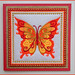 Butterfly fabric art card