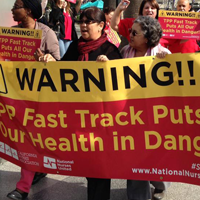 RN Delegation Lobbies, Protests in Sacramento to Stop TPP, Fast Track