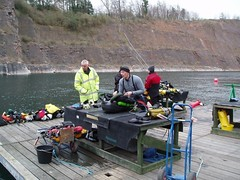 Phill doing the pre-dive checks on the new Ouroborous Re-Breather Image