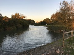 Evening walk at Lechlade on Thames