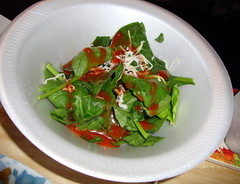 Spinach Salad With California French Dressing.
