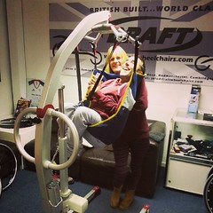 Me and mum hanging out at @draftwheelchair last week getting my posture issues sorted
