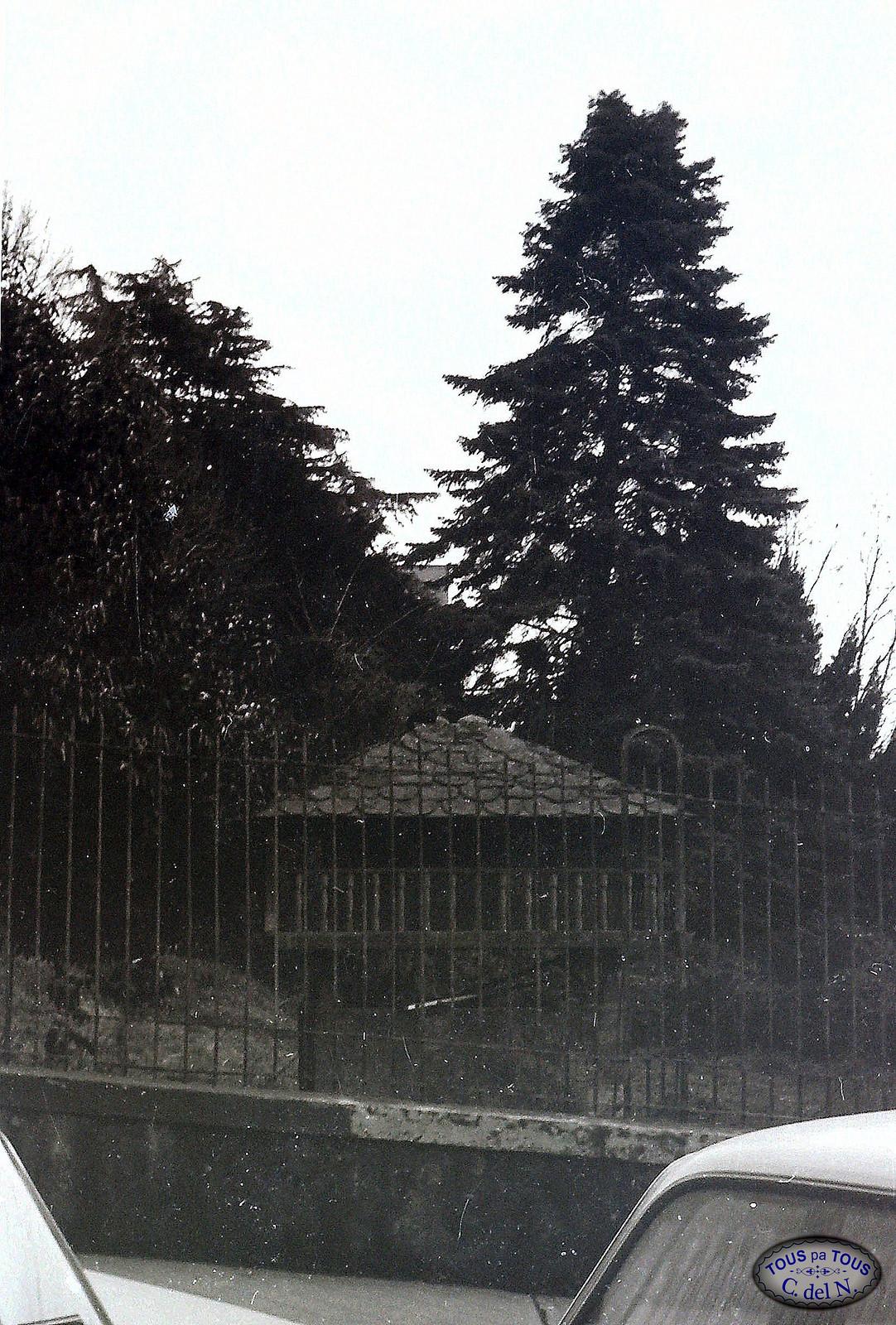 1985 - Hórreo y jardín de La Reguerala