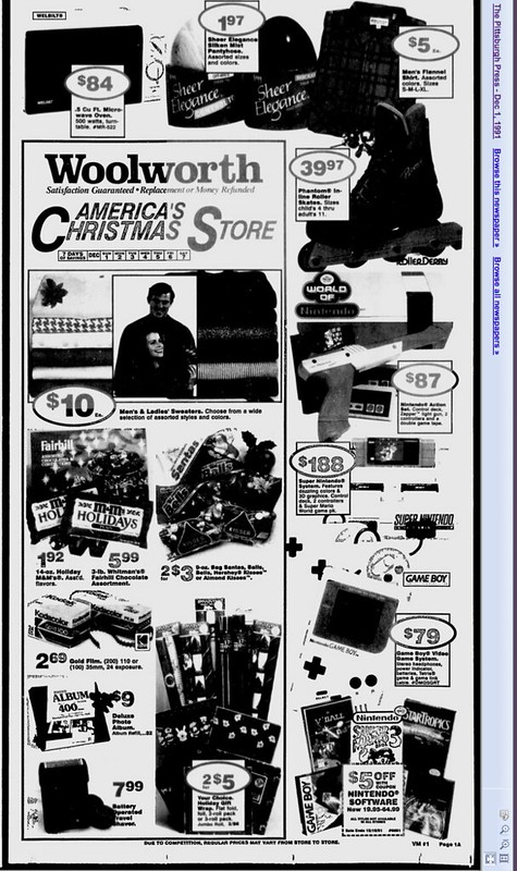 Woolworth, December 1, 1991 Pittsburgh Press
