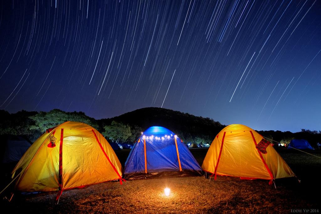 Startrail of 2014 Geminid Meteor Shower Night