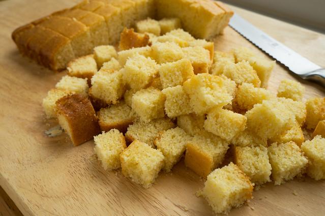 cubed cornbread