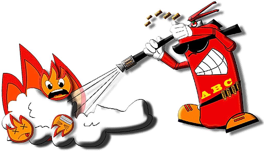 Apagando incêndio…