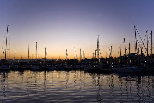 sunset sky españa sol water silhouette reflections landscape puerto atardecer mar andalucía spain agua europa europe barcos perfil ships paisaje cielo silueta velas ocaso fotógrafo mediterráneo málaga reflejos fotografía veleros mástiles vélezmálaga chemaconcellón lacaletadevélez
