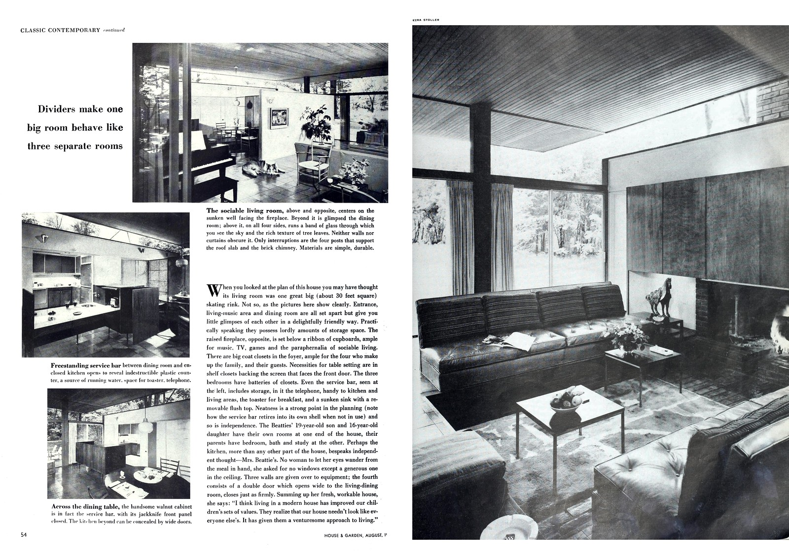 Ulrich Franzen - Beattie Residence - Rye, New York - 1958 (2 of 2)
