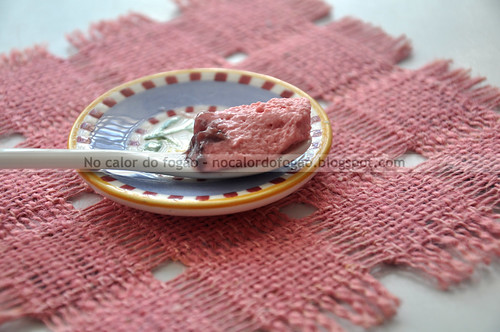 Mousse de amora e framboesa diet - textura