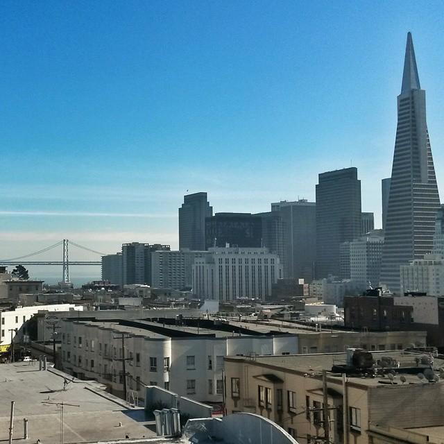 Näkymä San Franciscon yli